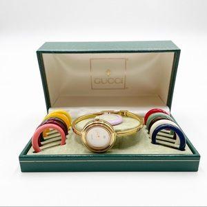 GUCCI 11/12 Interchangeable Bezel Wristwatch Rare
